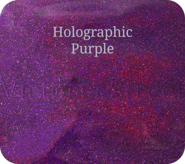 Fine Craft Glitter Holographic Purple 0.2mm Hex (0.008″)