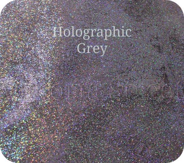 Fine Craft Glitter Holographic Grey 0.2mm Hex (0.008″)