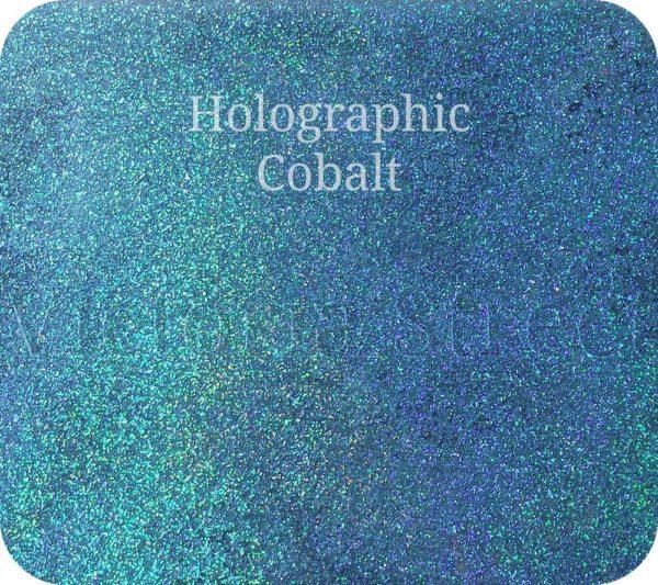 Fine Craft Glitter Holographic Cobalt 0.2mm Hex (0.008″)