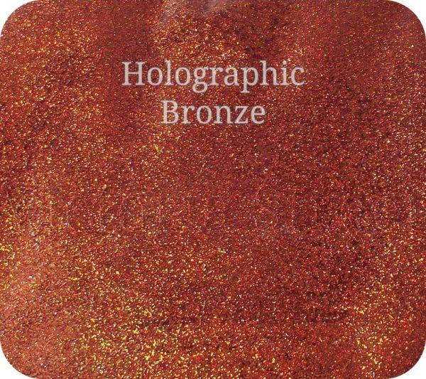Fine Craft Glitter Holographic Bronze 0.2mm Hex (0.008″)