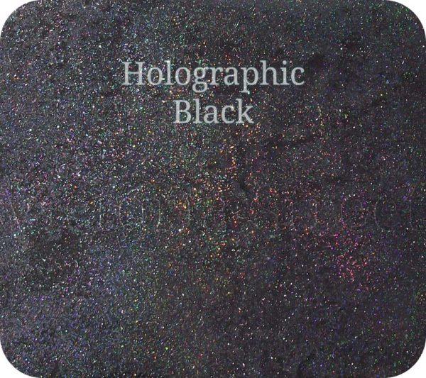 Fine Craft Glitter Holographic Black 0.2mm Hex (0.008″)