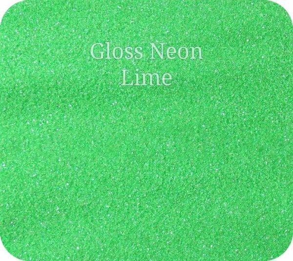 Fine Craft Glitter Gloss Neon Lime 0.2mm Hex (0.008″)